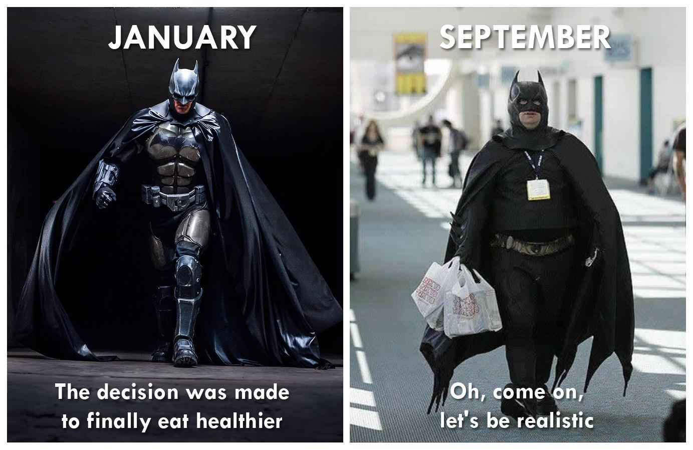 [Источник](https://www.reddit.com/r/memes/comments/9f7cxm/new_years_resolutions/) (вторая половина января была бы реалистичнее)